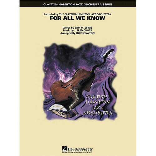 Hal Leonard For All We Know Jazz Band Level 5 Arranged by John Clayton