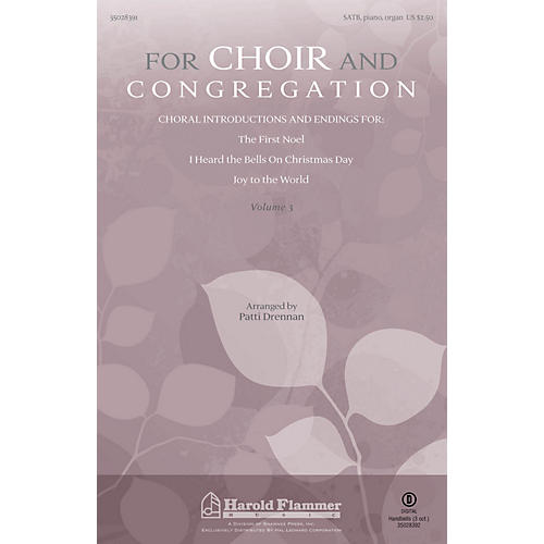 Shawnee Press For Choir and Congregation, Vol. 3 SATB, PIANO AND ORGAN arranged by Patti Drennan