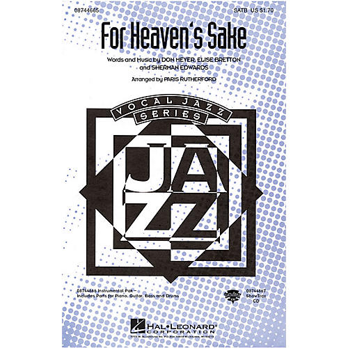 Hal Leonard For Heaven's Sake SATB arranged by Paris Rutherford
