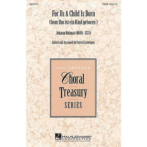 Hal Leonard For Us a Child Is Born (from Uns ist ein Kind geboren) SATB composed by Johann Kuhnau