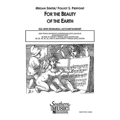 Hal Leonard For the Beauty of the Earth (Choral Music/Octavo Secular Ssa) SSA Composed by Senter, Megan