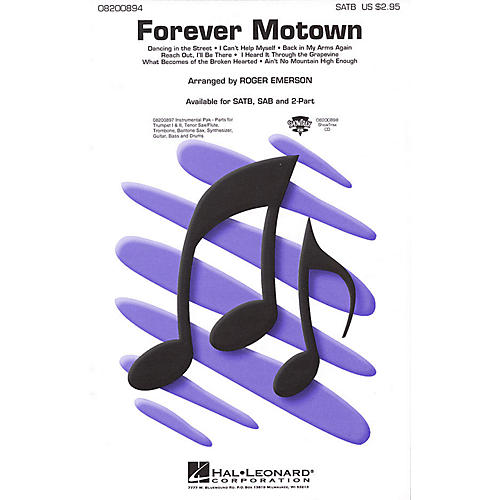 Hal Leonard Forever Motown (Medley) 2-Part Arranged by Roger Emerson