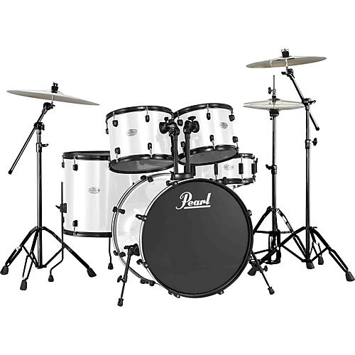 Pearl Forum 5-Piece Standard Shell Pack White with Black Hardware