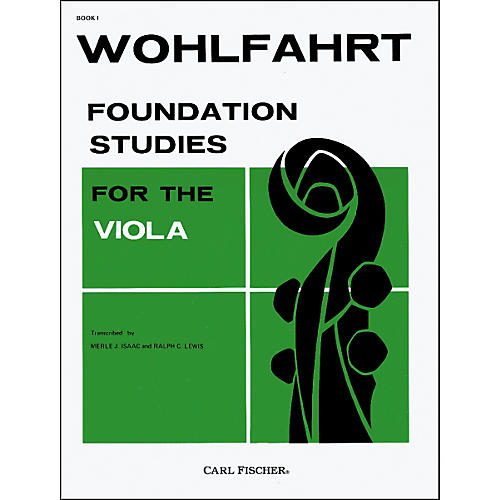 Carl Fischer Foundation Studies For The Viola - Book 1