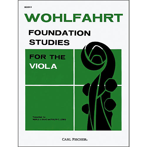 Carl Fischer Foundation Studies For The Viola Book II