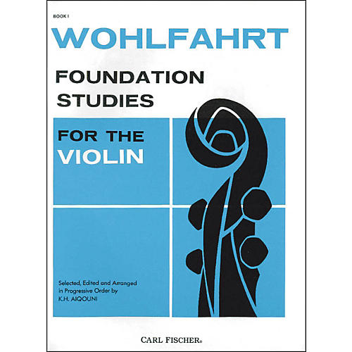 Carl Fischer Foundation Studies For The Violin Book 1