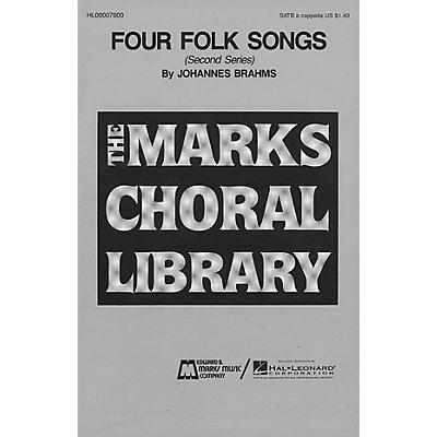 Edward B. Marks Music Company Four Folk Songs (Collection) SATB a cappella composed by Johannes Brahms