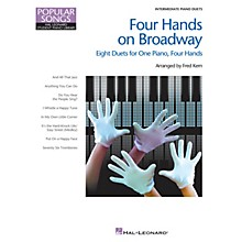 Hal Leonard Four Hands on Broadway Piano Library Series Book (Level Inter to Late Intermedi)