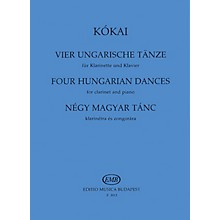 Editio Musica Budapest Four Hungarian Dances EMB Series by Rezsö Kókai