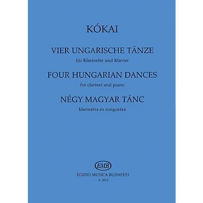 Editio Musica Budapest Four Hungarian Dances EMB Series by Rezsö Kókai