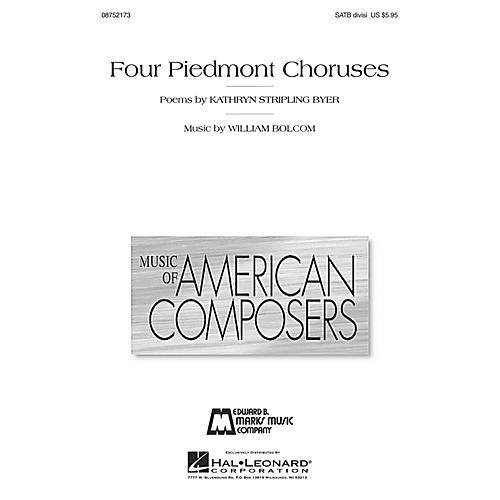 Hal Leonard Four Piedmont Choruses SATB Divisi composed by William Bolcom