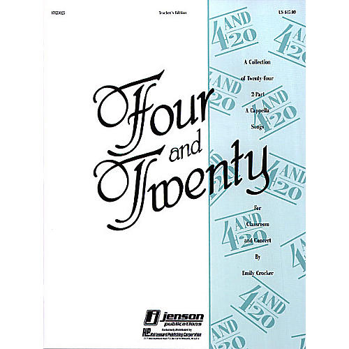 Hal Leonard Four and Twenty TEACHER ED Composed by Emily Crocker