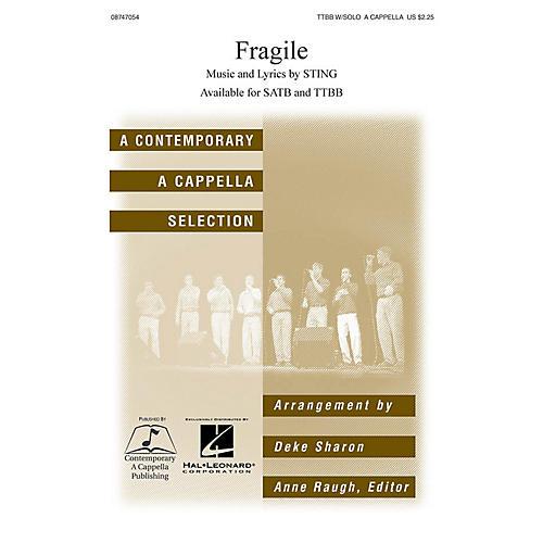 Hal Leonard Fragile TTBB Div A Cappella by Sting arranged by Deke Sharon