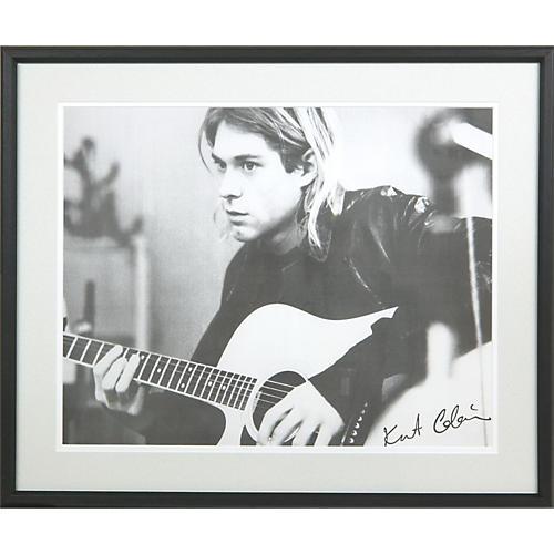 Art Select Framed Kurt Cobain Image | Musician\'s Friend