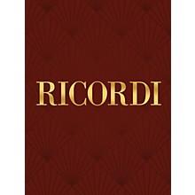 Ricordi Francesca Da Rimini It/En (Libretto) Opera Series Composed by Riccardo Zandonai