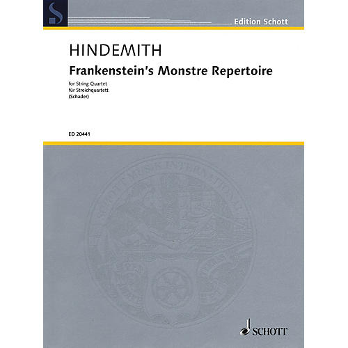 Schott Music Frankenstein's Monstre Repertoire (String Quartet Score and Parts) String Series