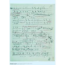 Axe Heaven Franz Liszt Music Manuscript Poster - Piano Sonata in B minor