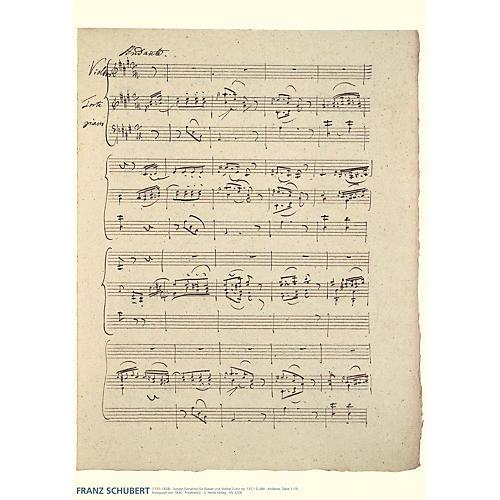 Hal Leonard Franz Schubert Music Manuscript Poster Henle Music Folios Series by Franz Schubert