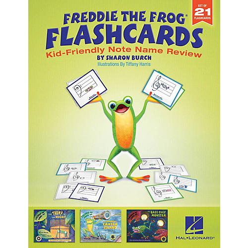 Hal Leonard Freddie the Frog Flashcards (Kid-Friendly Note Name Review) Resource Kit Composed by Sharon Burch