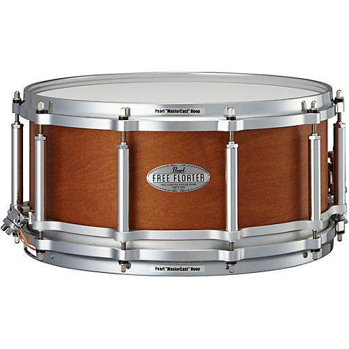 pearl free floating mahogany maple snare drum 14 x 6 5 in musician 39 s friend. Black Bedroom Furniture Sets. Home Design Ideas