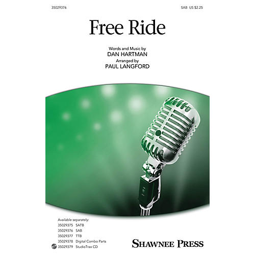 Shawnee Press Free Ride SAB arranged by Paul Langford