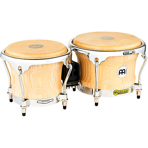 Meinl Free Ride Series Collection Wood Bongos 8.5 x 7 in. American White Ash