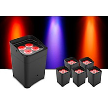 CHAUVET DJ Freedom Flex H4 Wireless RGBAW+UV LED PAR Wash Light 6-Pack with Charging Case