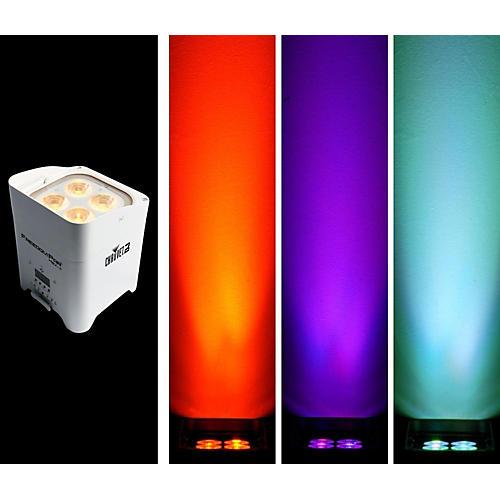 CHAUVET DJ Freedom Par Hex-4 Battery-Powered/Wireless RGBAW+UV LED Par Wash Light - White
