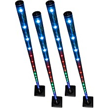CHAUVET DJ Freedom Stick 4-Pack Battery-Powered LED Effect/Stage Lights with Carrying Bag and IRC-6 Remote