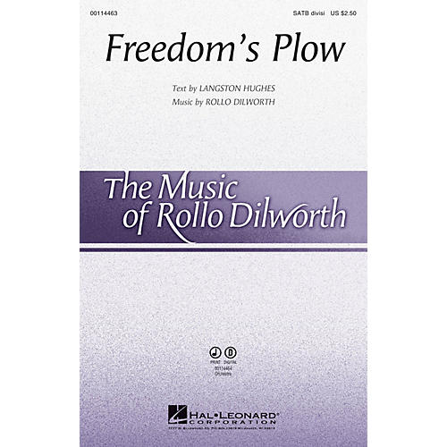 Hal Leonard Freedom's Plow SATB Divisi composed by Rollo Dilworth
