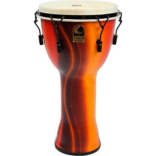 Toca Freestlyle Mechanically Tuned Djembe With Extended Rim Condition 2 - Blemished 9 in., Black Mamba 194744420290