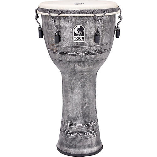 Toca Freestyle Antique-Finish Djembe 12 in. Silver