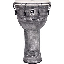 Freestyle Antique-Finish Djembe 14 in. Silver