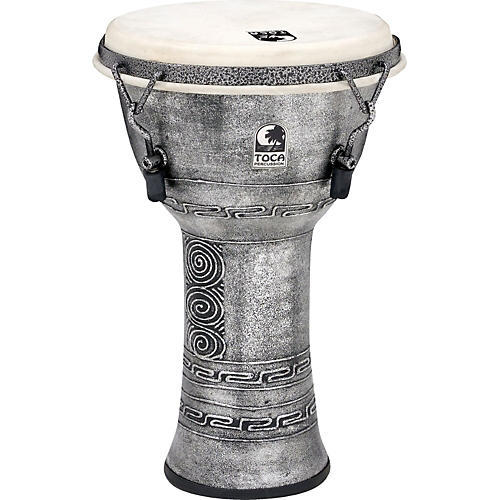 Toca Freestyle Antique-Finish Djembe 9 in. Silver