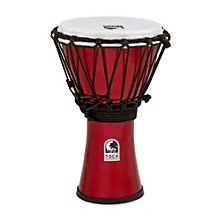 Freestyle ColorSound Djembe Metallic Red 7 in.