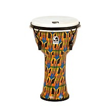 Freestyle Djembe - Kente Cloth Mechanically Tuned 9 in.