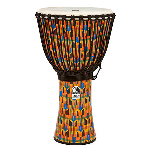 Toca Freestyle Kente Cloth Rope Tuned Djembe 14 in.