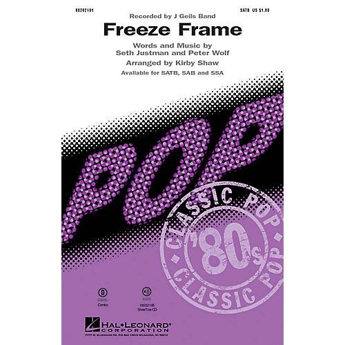 Hal Leonard Freeze Frame SATB arranged by Kirby Shaw