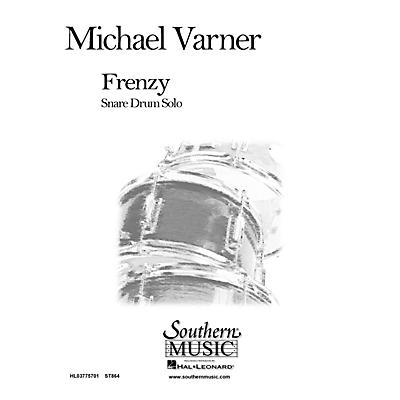 Hal Leonard Frenzy (Percussion Music/Snare Drum Unaccompanied) Southern Music Series Composed by Varner, Michael