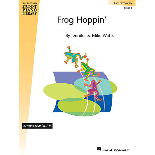 Hal Leonard Frog Hoppin' Piano Library Series by Jennifer Watts (Level Late Elem)