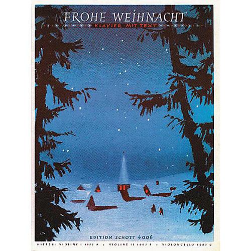 Schott Frohe Weihnacht(& V1/v2/vc Ad Lib) Schott Series