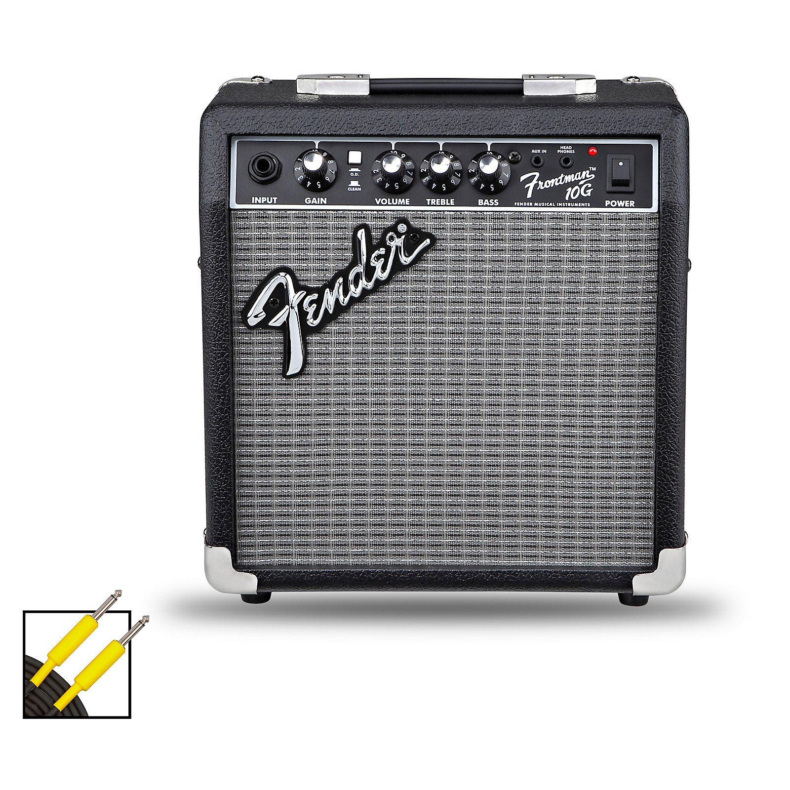 Fender Frontman 10G 10W Guitar Combo Amp with 20 Foot Instrument Cable
