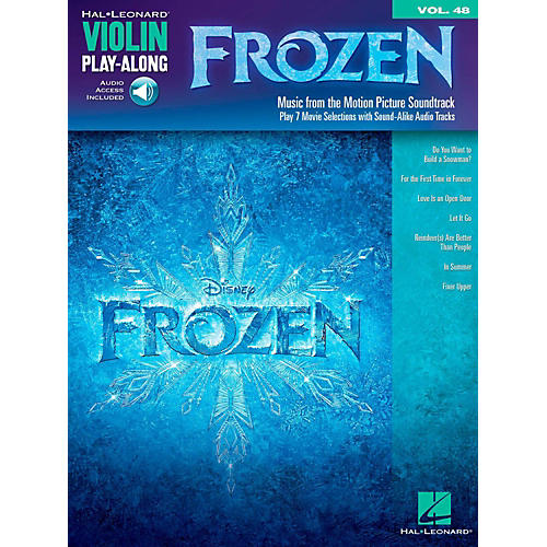 Hal Leonard Frozen - Violin Play-Along Volume 48 Book/Online Audio