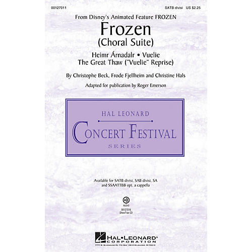 Hal Leonard Frozen (Choral Suite) SATB Divisi composed by Christophe Beck