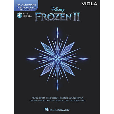Hal Leonard Frozen II Viola Play-Along Instrumental Songbook Book/Audio Online