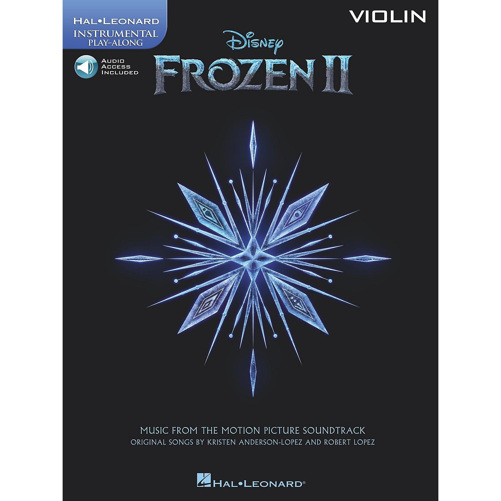 Hal Leonard Frozen II Violin Play-Along Instrumental Songbook Book/Audio Online