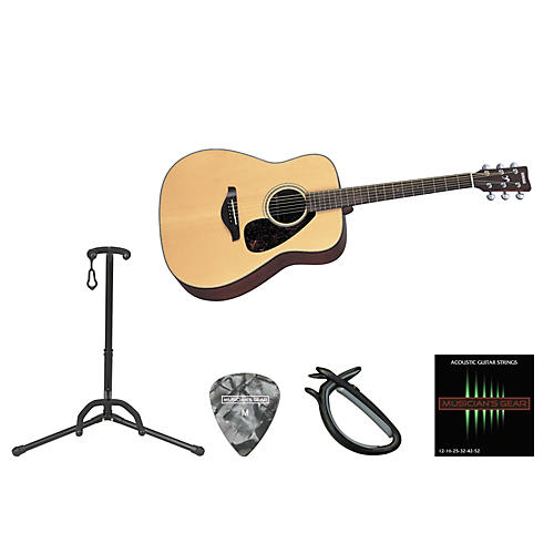 Yamaha Full Scale Beginner Steel String Dreadnought Acoustic Guitar Bundle