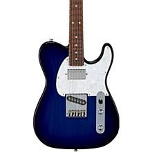 Fullerton Deluxe ASAT Classic Bluesboy Electric Guitar Caribbean Rosewood Fingerboard Blue Burst