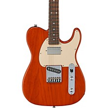 Fullerton Deluxe ASAT Classic Bluesboy Electric Guitar Caribbean Rosewood Fingerboard Clear Orange