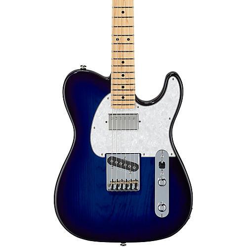 G&L Fullerton Deluxe ASAT Classic Bluesboy Maple Fingerboard Electric Guitar Blue Burst